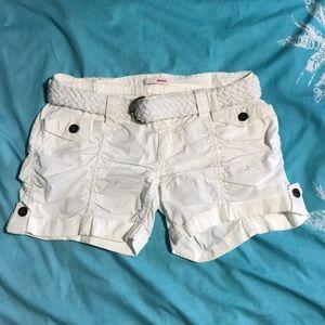 White Shorts w/ Belt